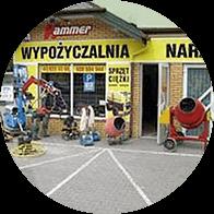 Widok wypożyczalni narzędzi Hammer, w Zduńskiej Woli.